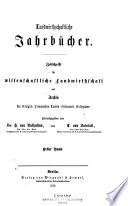 Landwirtschaftliche Jahrb  cher Book PDF