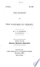 The Doctrine Of Two Natures In Christ