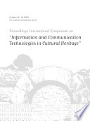 Proceedings International Symposium On Information And Communication Technologies In Cultural Heritage  Book PDF