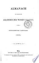 Almanach der kaiserlichen Akademie der Wissenschaften für das Jahr ...