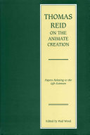 Thomas Reid on the Animate Creation