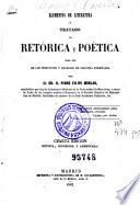 Elementos de literatura ó Tratado de retórica y poética  : para uso de los institutos y colegios de segunda enseñanza