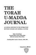 The Torah U-madda Journal