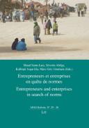 Entrepreneurs Et Entreprises en Quête de Normes