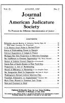 Journal Of The American Judicature Society