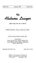 The Alabama Lawyer: Official Organ State Bar of Alabama