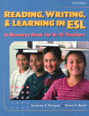 Reading  Writing   Learning in ESL