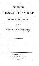 Specimina Linguæ Francicæ