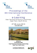 ICEL2013 Proceedings of the 8th International Conference on e Learning