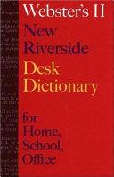 Webster s II New Riverside Desk Dictionary