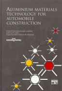 Aluminium Materials Technology For Automobile Construction Book PDF