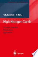 High Nitrogen Steels
