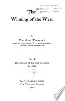 The Winning of the West  The spread of English speaking peoples Book