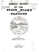 Annual Report Of The State Board Of Pardons