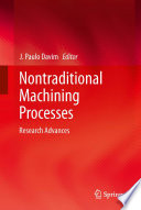Nontraditional Machining Processes Book PDF