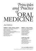 Principles and Practice of Oral Medicine Book