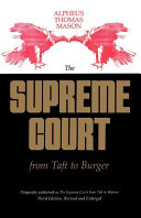 The Supreme Court from Taft to Burger