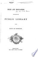 Index to the Catalogue of a Portion of the Public Library of the City of Boston Book