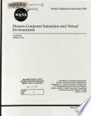 Human Computer Interaction and Virtual Environments Book