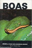 Boas and Other Non-venomous Snakes