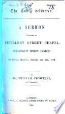 The Godly Delivered. A Sermon Preached ... on Sunday Morning, October the 5th, 1862