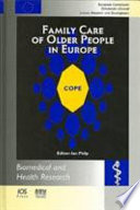 Family Care of Older People in Europe Book