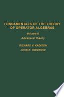 Fundamentals Of The Theory Of Operator Algebras V2