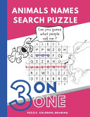 Animals Names Search Puzzle
