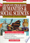 Student Advantage Guide to the Best Graduate Programs  : Humanities and Social Sciences