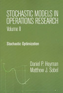 Stochastic Models in Operations Research  Stochastic optimization