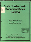 State of Wisconsin Document Sales Catalog