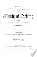 History  Gazetteer  and Directory of the County of Oxford