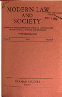 Modern Law and Society