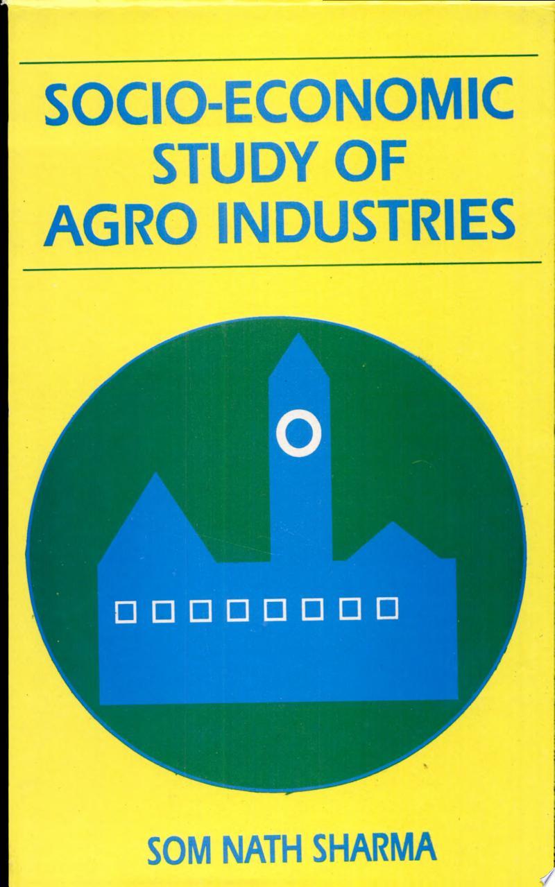 Socio-economic Study of Agro Industries banner backdrop