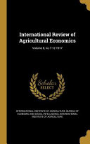 Intl Review Of Agricultural Ec