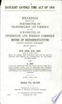 Daylight Savings Time Act of 1976 Book