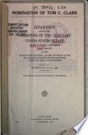 Nomination of Tom C. Clark