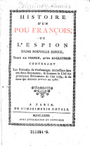 Histoire d'un pou françois, ou, L'espion d'une nouvelle espèce, tant en France qu'en Angleterre