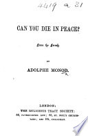 Can You Die in Peace  From the French Book PDF