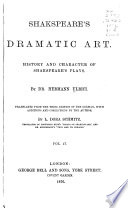Shakespeare's dramatic art: and his relation to Calderon and Goethe