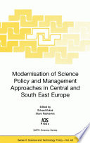Modernisation of Science Policy and Management Approaches in Central and South East Europe