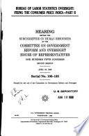 Oversight Of The Bureau Of Labor Statistics