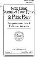 Symposium on Law   Politics as Vocation