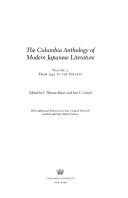 The Columbia Anthology Of Modern Japanese Literature From 1945 To The Present