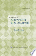 A Guide to Advanced Real Analysis Book