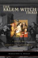 Pdf The Salem Witch Trials