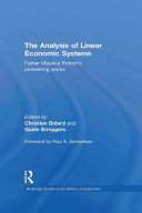 Pdf The Analysis of Linear Economic Systems