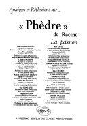 """Analyses et réflexions sur """"Phèdre"""" de Racine"""