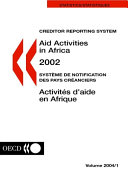 Creditor Reporting System on Aid Activities Aid Activities in Africa 2002 Volume 2004 Issue 1