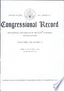 United States of America Congressional Record, Proceedings and Debates of the 113th Congress Second Session Volume 160 - Part 5
